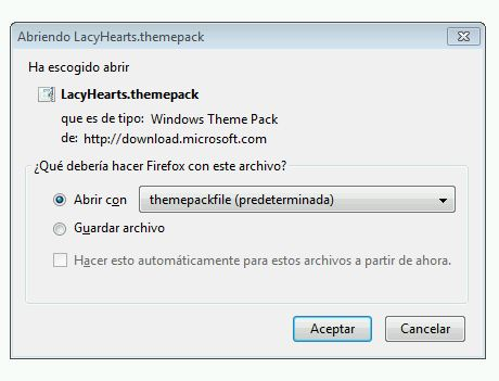 Tema para Windows 7: día de los enamorados