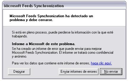 Error MDFEEDSSYNC.exe