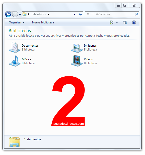 Sacar barra de izquierda Windows 7