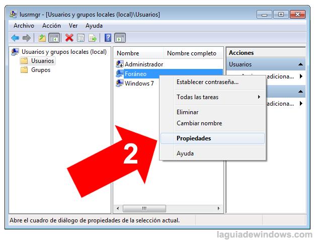 Evitar que el usuario panga password en Windows 7