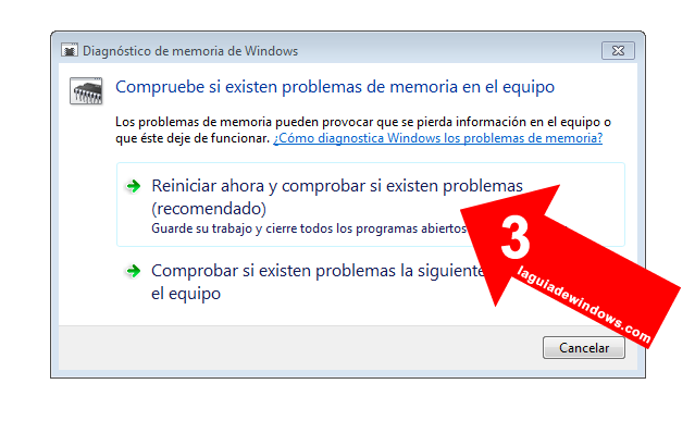 Testear RAM en Windows 7