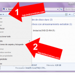 Ver extensiones en Windows 7