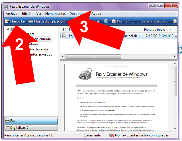 Fax en Windows 7