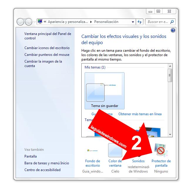 Password protector de pantalla Windows 7