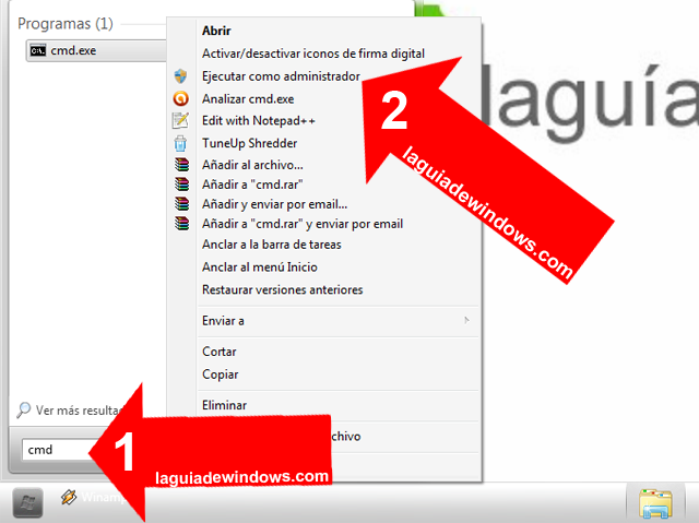 Esconder particiones en Windows 7