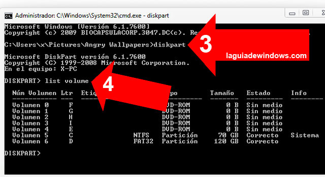 Esconder particiones en Windows 7