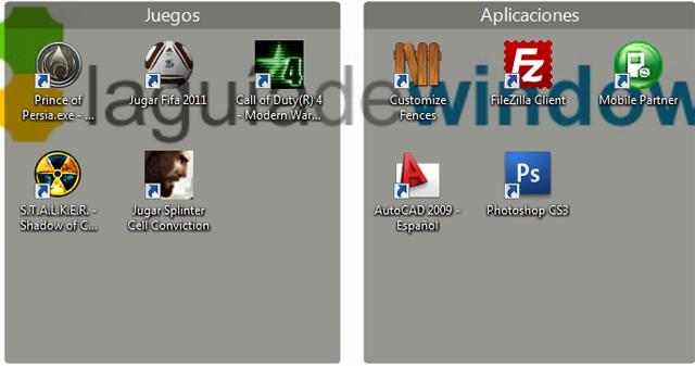 Organizar íconos del escritorio en Windows