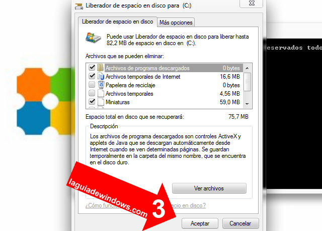 Limpiar el disco en Windows 7