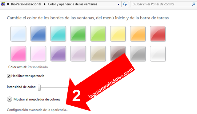 Personalizar ventanas en Windows 7