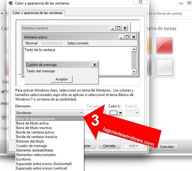 Personalizar ventanas en Windows 7