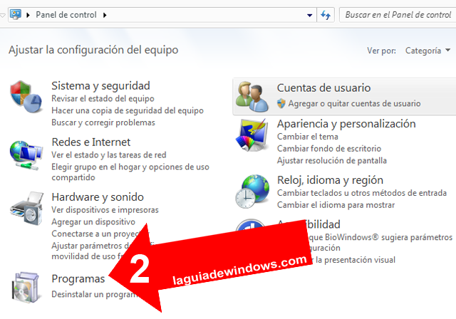 Desinstalar actualizaciones en Windows 7