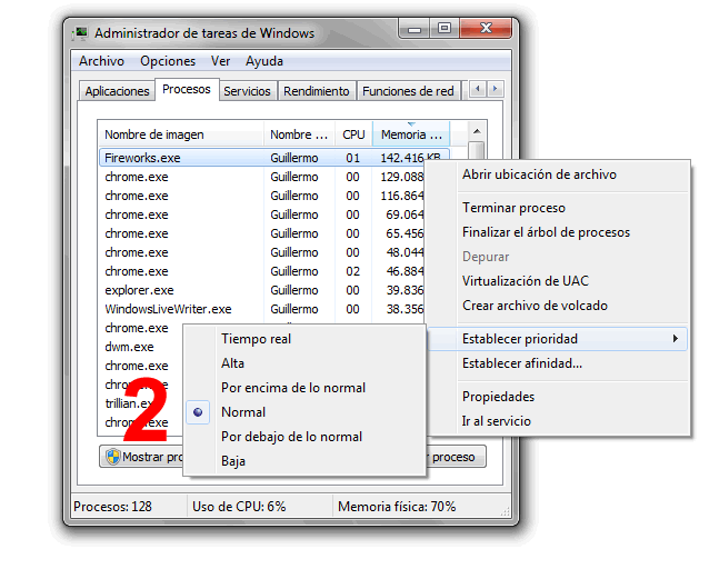 Como modificar la prioridad de CPU a un programa [Windows 7]