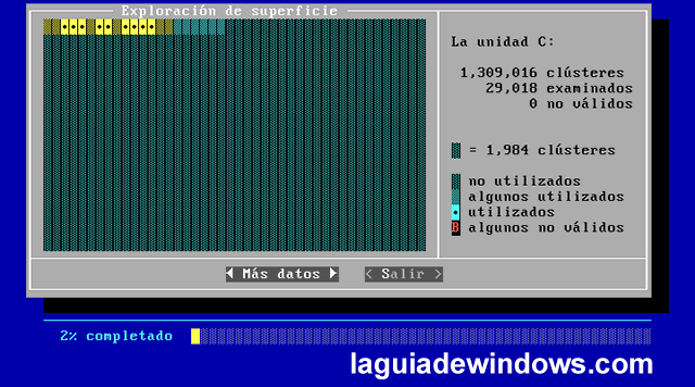 Scandisk (chequear el disco duro) [Windows 98]