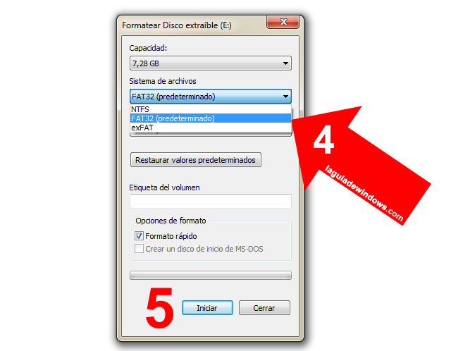 Formatear Pendrive en Windows